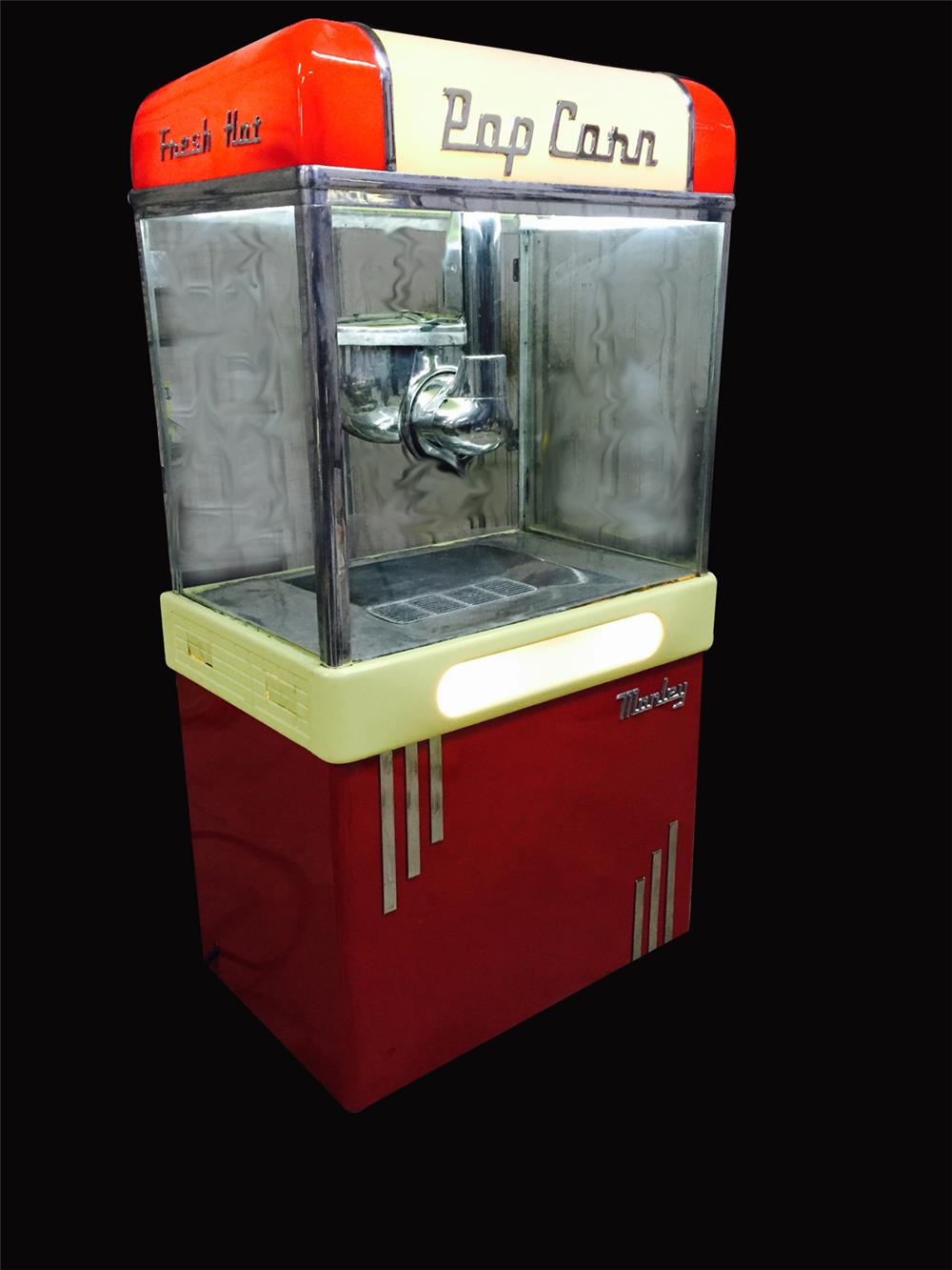 Stylish 1950's Manley Aristocrat model popcorn machine - Front 3/4 - 192260
