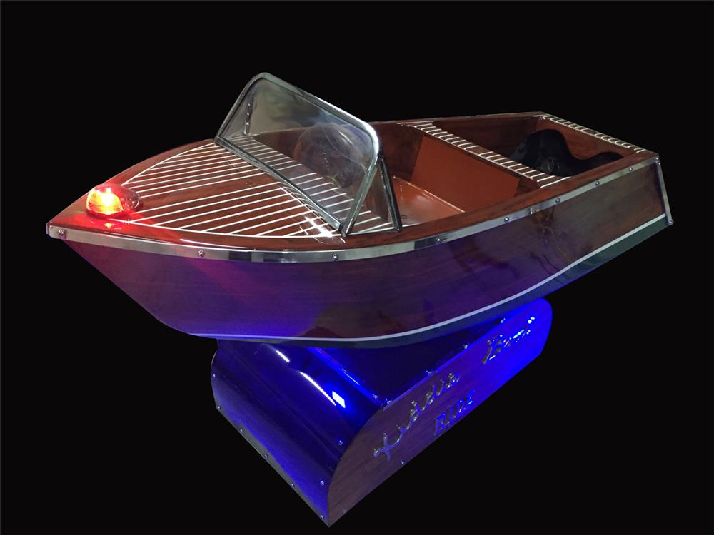 Stellar 1950s coin operated Kiddy Boat Ride restored by McLaren Classic Restorations - Front 3/4 - 192262