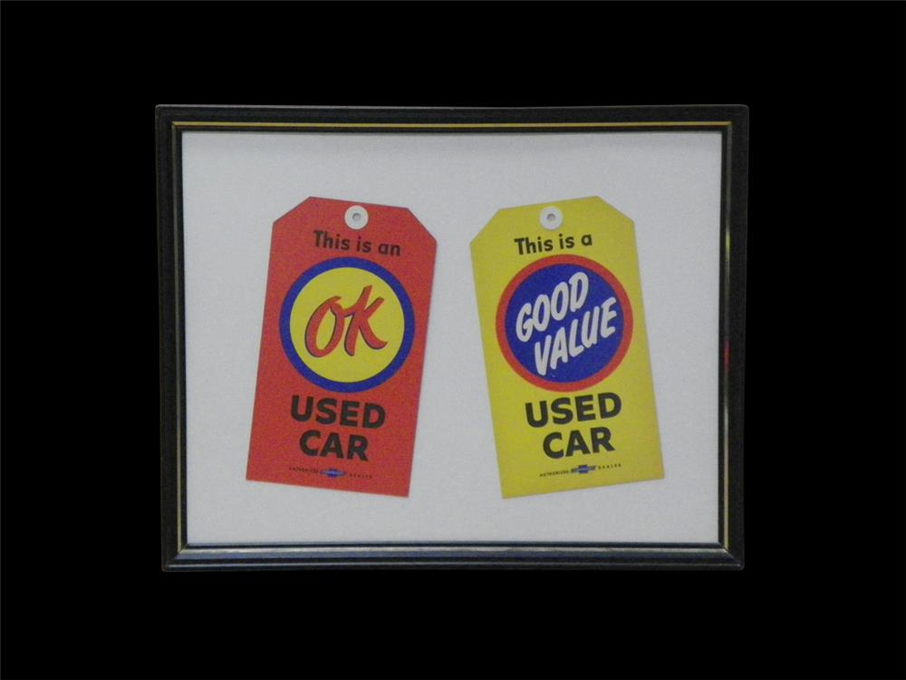 Nice set of 1950s Chevrolet OK and Good Value Used Cars sales lot window tags. - Front 3/4 - 192285