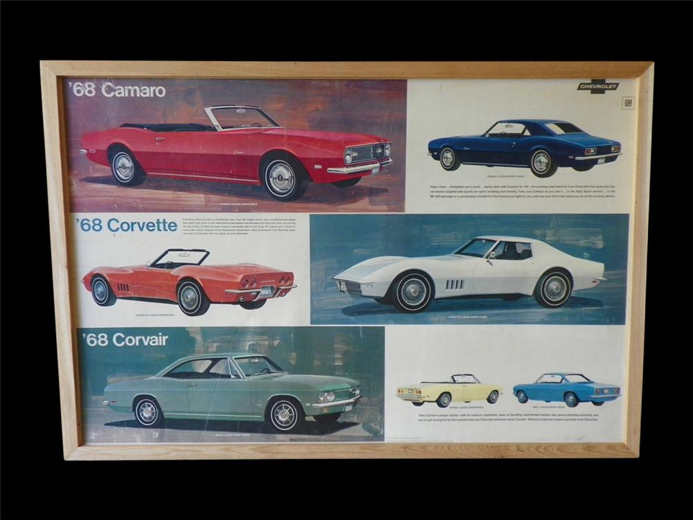 1968 Chevrolet showroom sales display cardboard sign/poster - Front 3/4 - 192289
