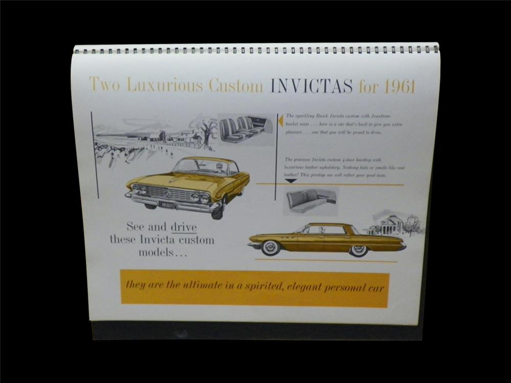 1961 Buick showroom sales a-frame display book featuring Full Size and Buick Special. - Front 3/4 - 192293