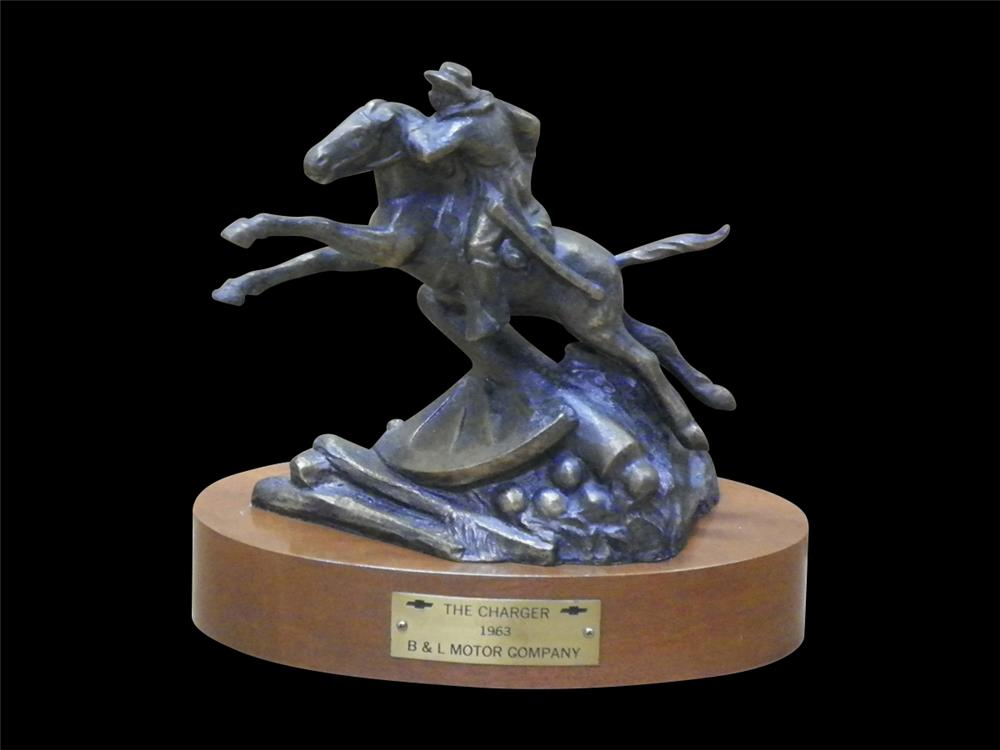 "1963 Chevrolet Sales Award featuring the iconic ""The Charger"" statue by M.D. Taylor. - Front 3/4 - 192305"