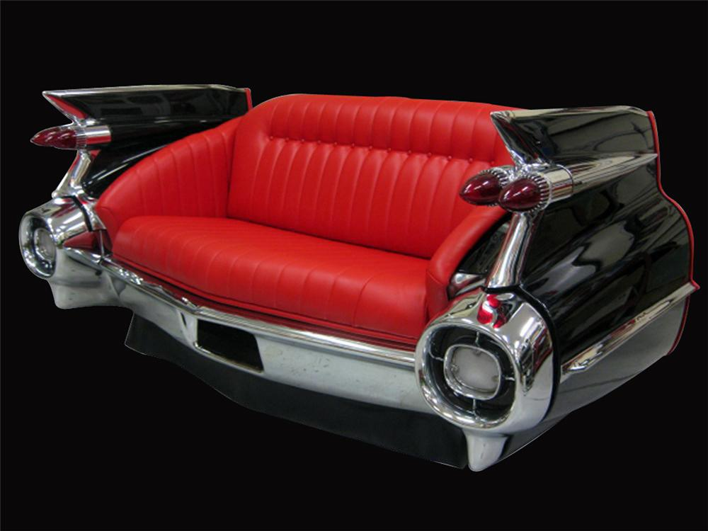 Phenomenal concours quality restoration of an authentic 1959 Cadillac rear end cleverly converted into a couch. - Front 3/4 - 192372