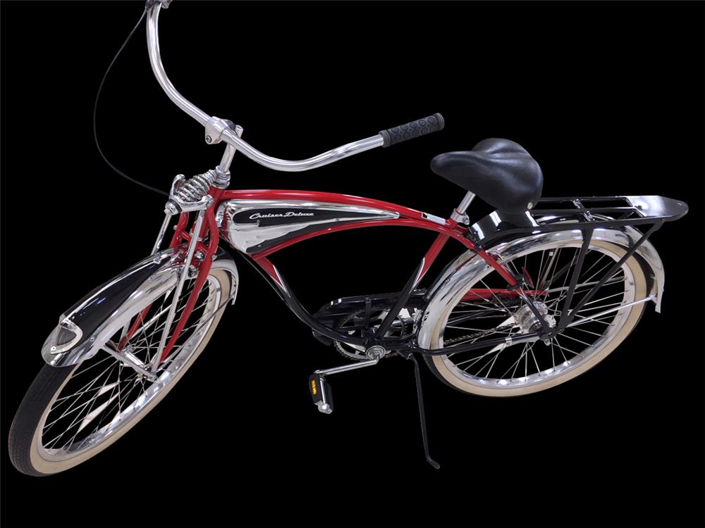 Limited edition 1995 Schwinn Cruiser Deluxe Anniversary Edition bicycle. - Front 3/4 - 192388