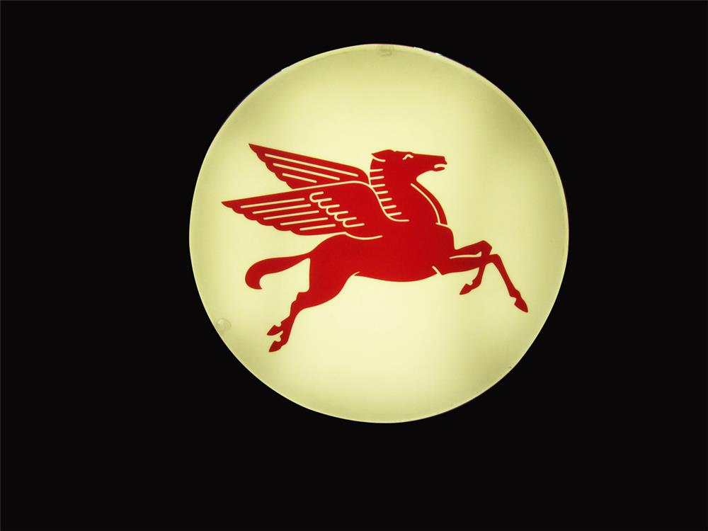 Fantastic vintage Mobil Oil single-sided light-up Pegasus sign. - Front 3/4 - 192409