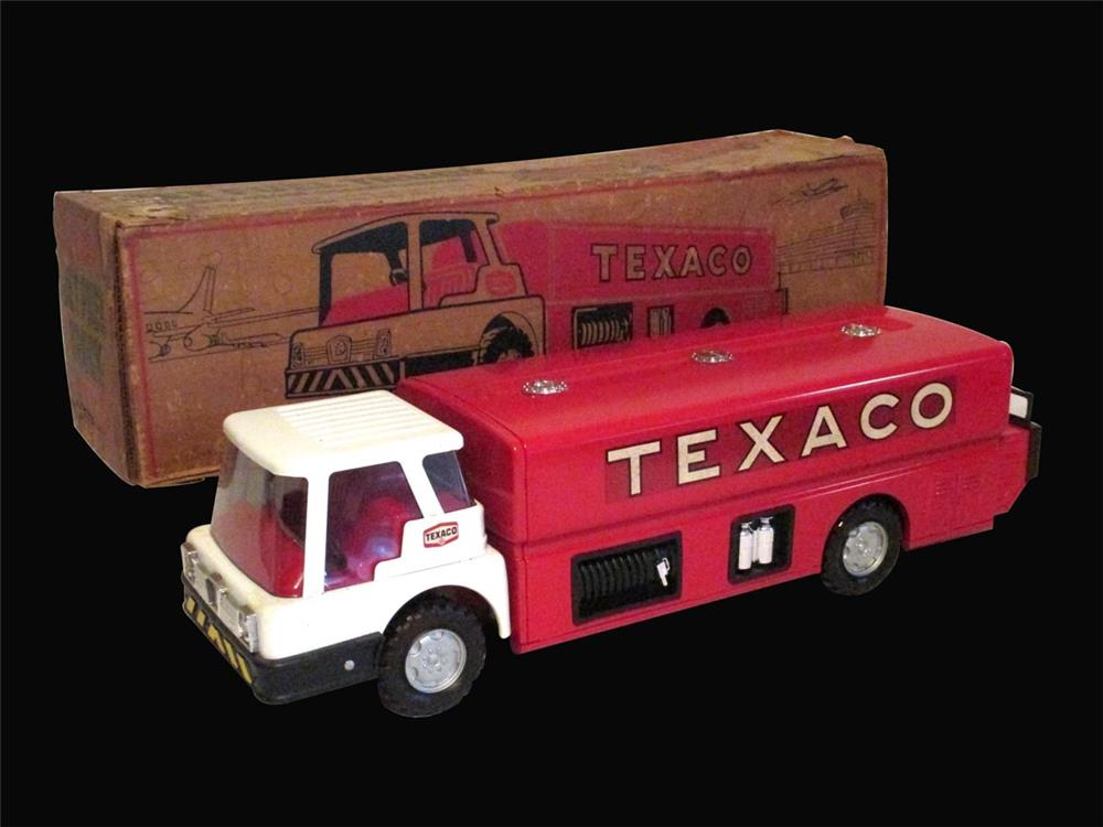 "1960's Texaco Dealer Promotional pressed steel ""Jet Fuel"" Tanker truck - Front 3/4 - 192448"