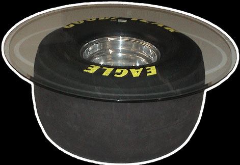 Darrell Gwynn's Top Fuel Drag Wheel Table. - Front 3/4 - 192467