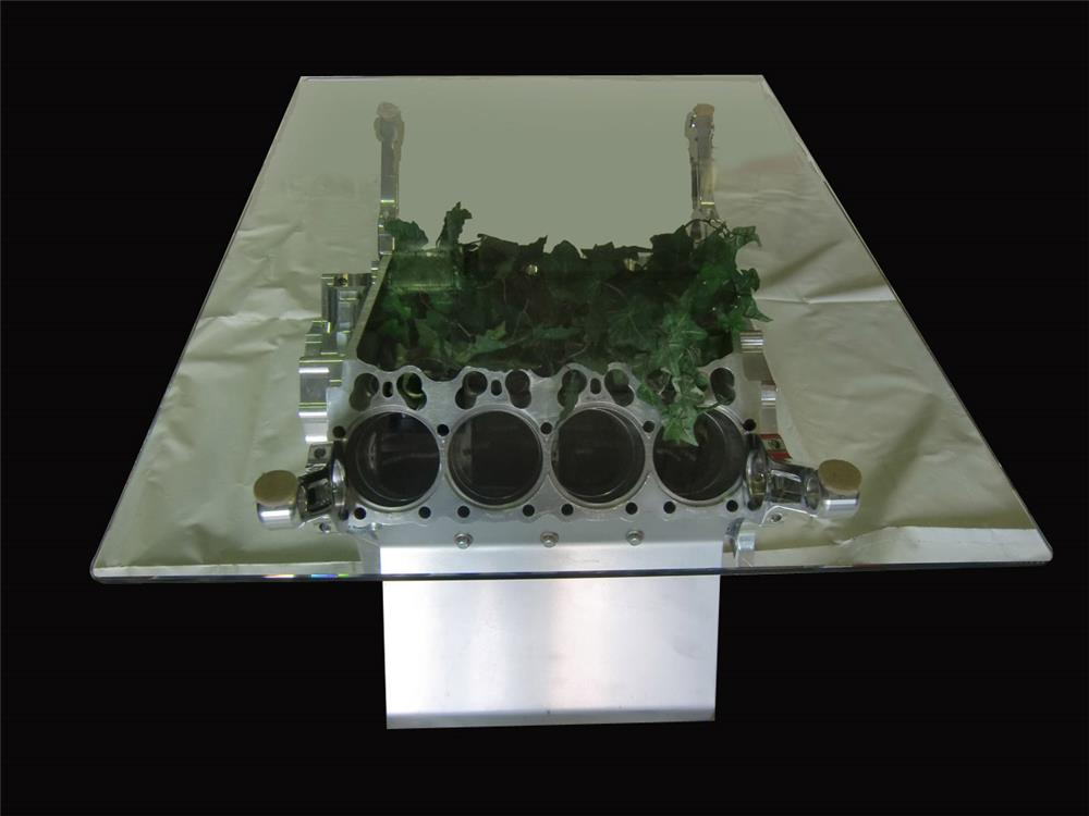 Darrell Gwynn's personal nitro engine block table. - Front 3/4 - 192469