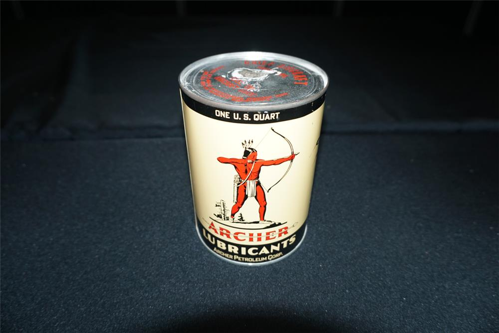 Addendum Item - Gorgeous one-quart Archer Oil can found unused. - Front 3/4 - 193741