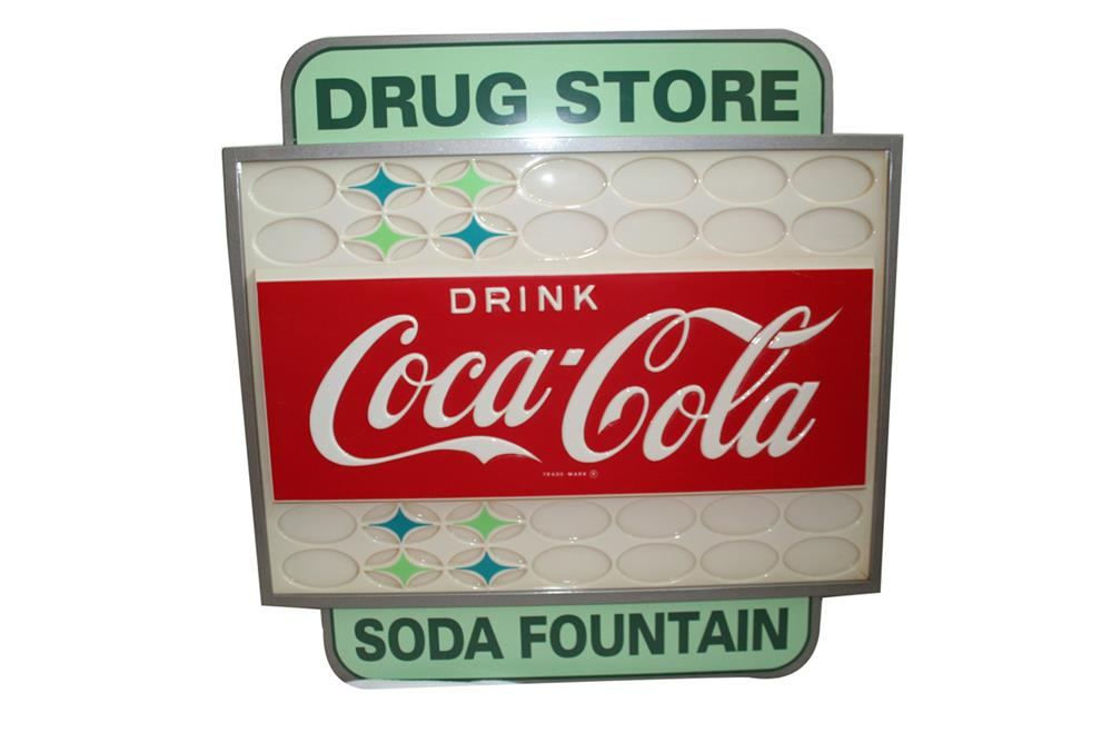 custom created drink coca cola soda fountain light up sign ut 194857. Black Bedroom Furniture Sets. Home Design Ideas