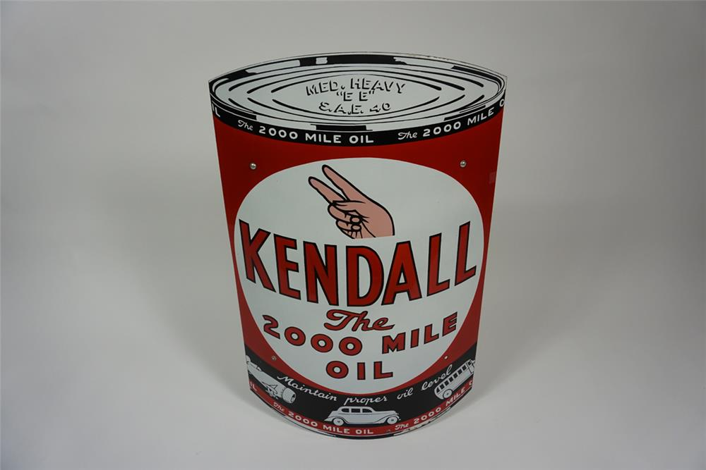 Museum quality 1930s kendall motor oil over sized quart for Kendall motor oil distributors