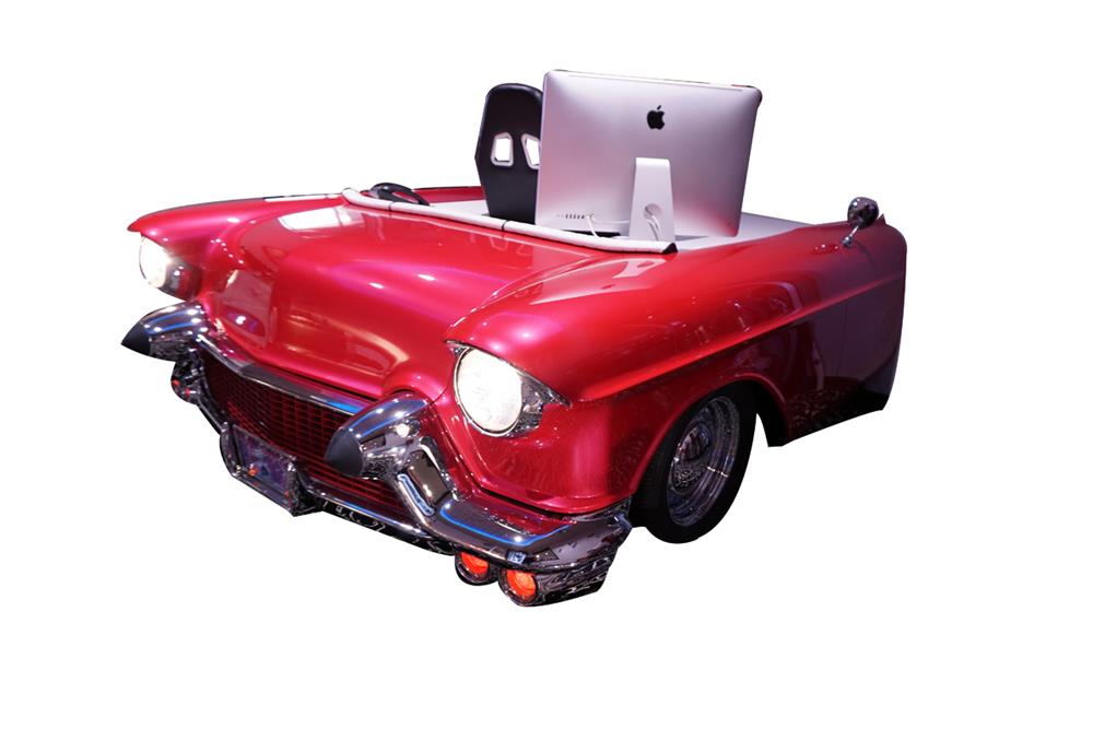 Lot #6377 One-of-a-kind custom-made 1957 Cadillac Biarritz car desk.