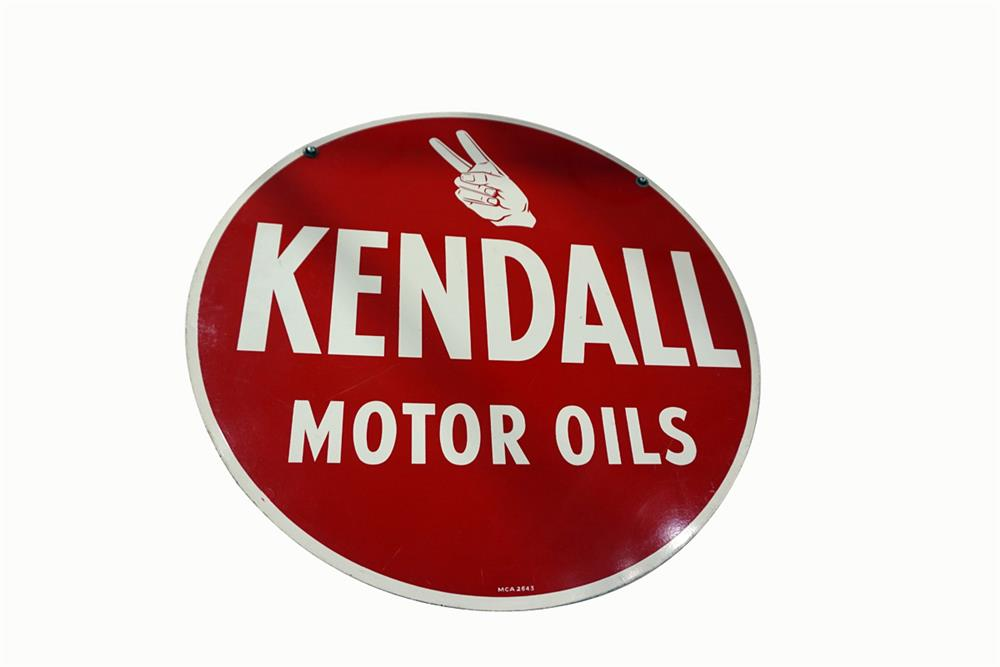 Sharp Kendall Motor Oil Double Sided Tin Automotive Garage