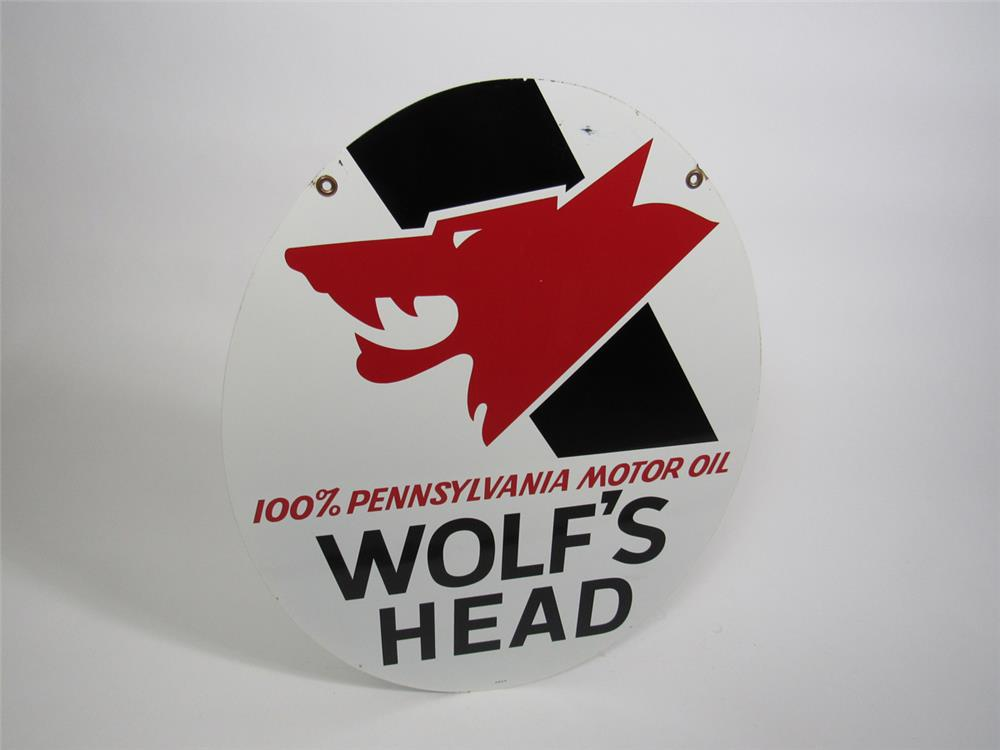 Used Cars West Palm Beach >> Chioice Vintage Wolf's Head Motor Oil double-sided tin garage