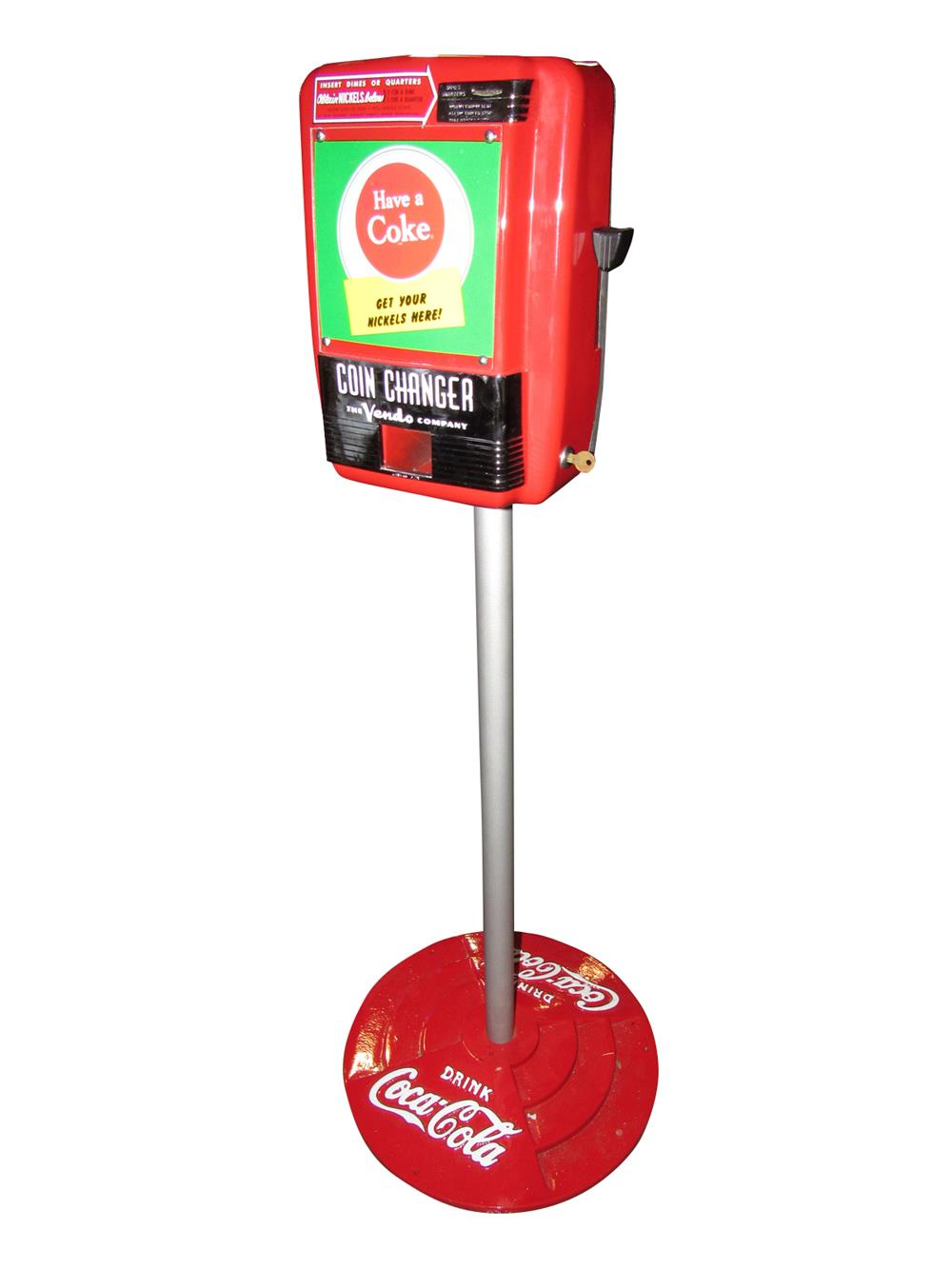 Whats My Car Worth Cast >> Rare and restored 1950s Coca-Cola Vendo coin-changer on stand203962