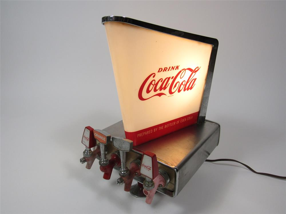 Used Car Auctions >> Late 1950s-early 60s Coca-Cola light-up soda fountain dispens