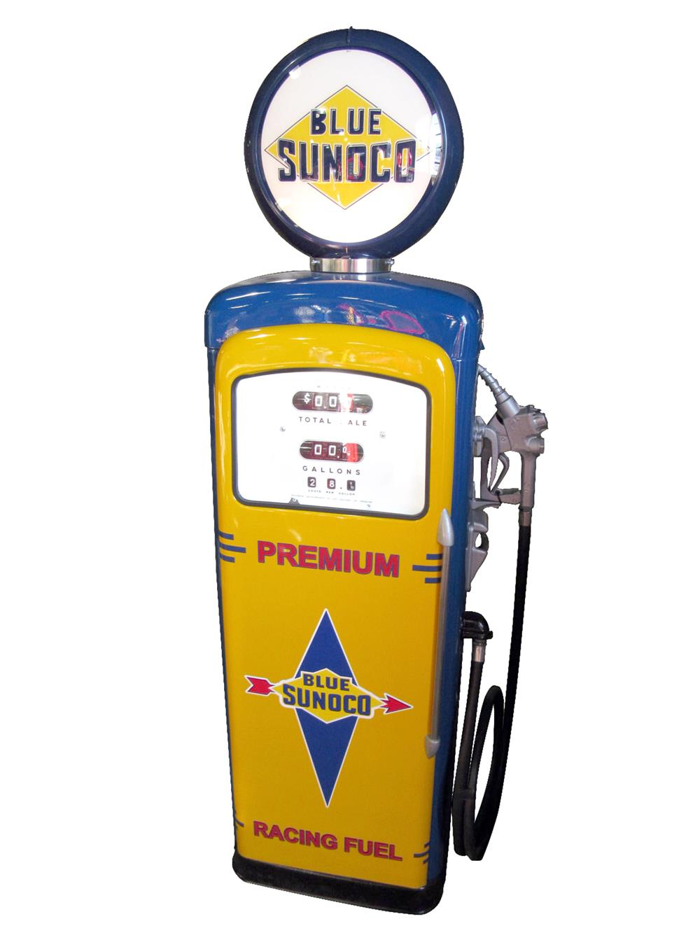 late 1950s sunoco oil wayne 90 restored service station gas p