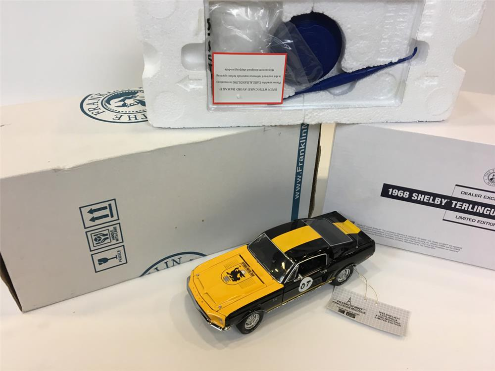 1968 Shelby Terlingua Ford Mustang LE 1/24 scale Franklin Mint. #201 of 250. - Rear 3/4 - 205103