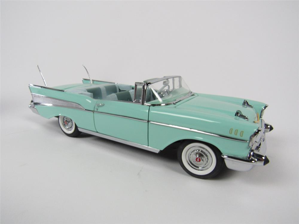 Bel Air Auto Auction >> Fantastic Surf Green 1957 Chevrolet Bel Air Convertible Danbu - 208740