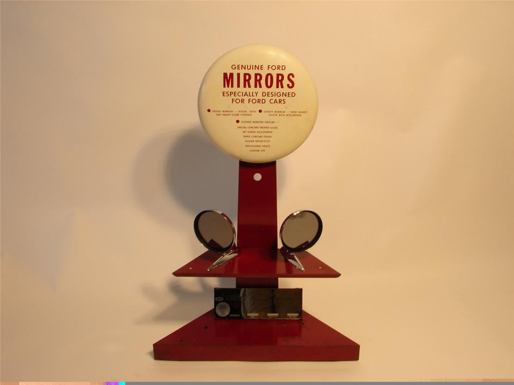 1950s Ford Automobiles showroom metal mirror display piece - Front 3/4 - 45717