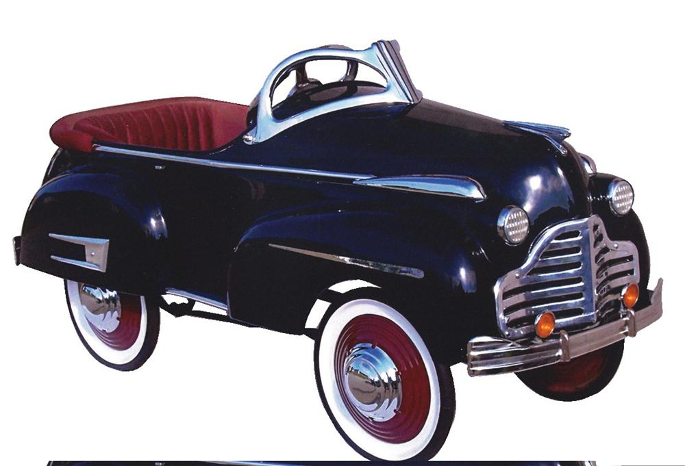 Stylish 1941 Buick pedal car restored with great attention to detail; - Front 3/4 - 45757