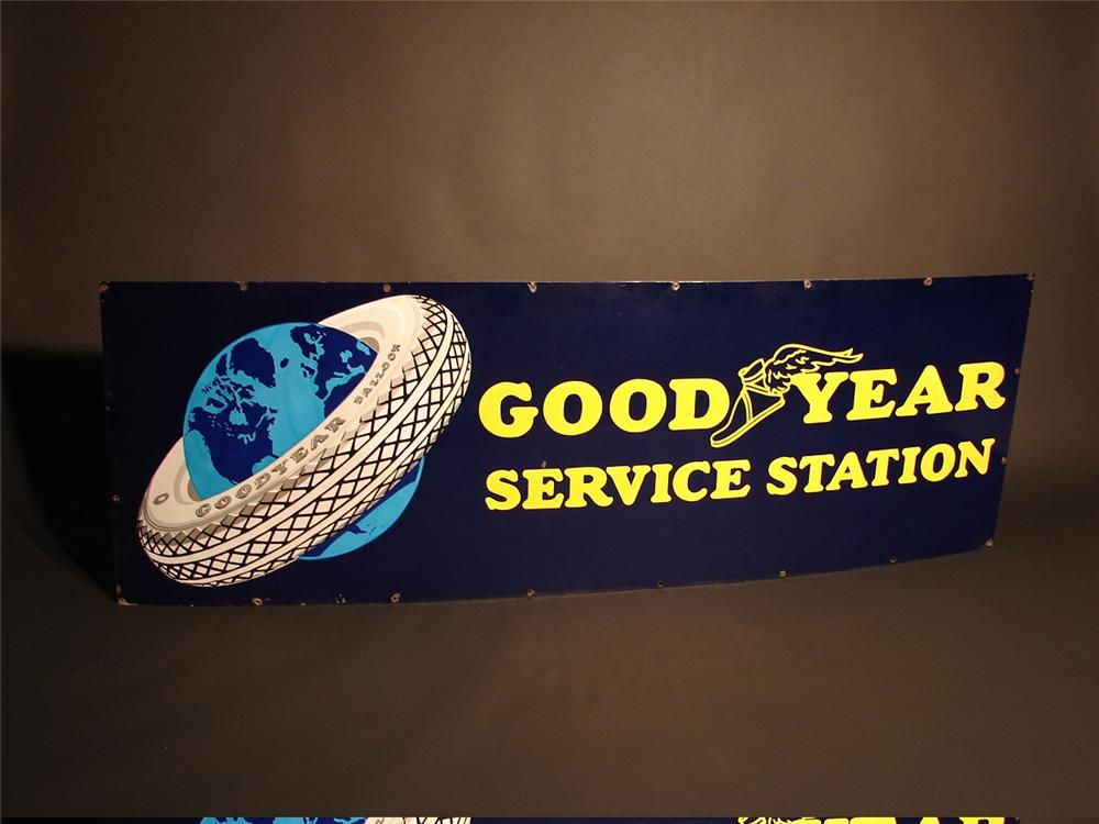 Choice 1930s Goodyear Service Station single-sided porcelain garage sign. - Front 3/4 - 46047