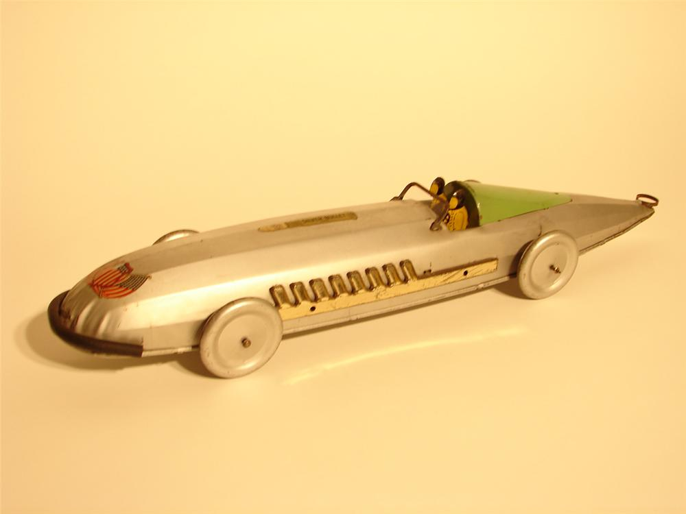 Streamlined 1930s Buffalo Manufacturing Silver Bullet Racer. - Front 3/4 - 46054