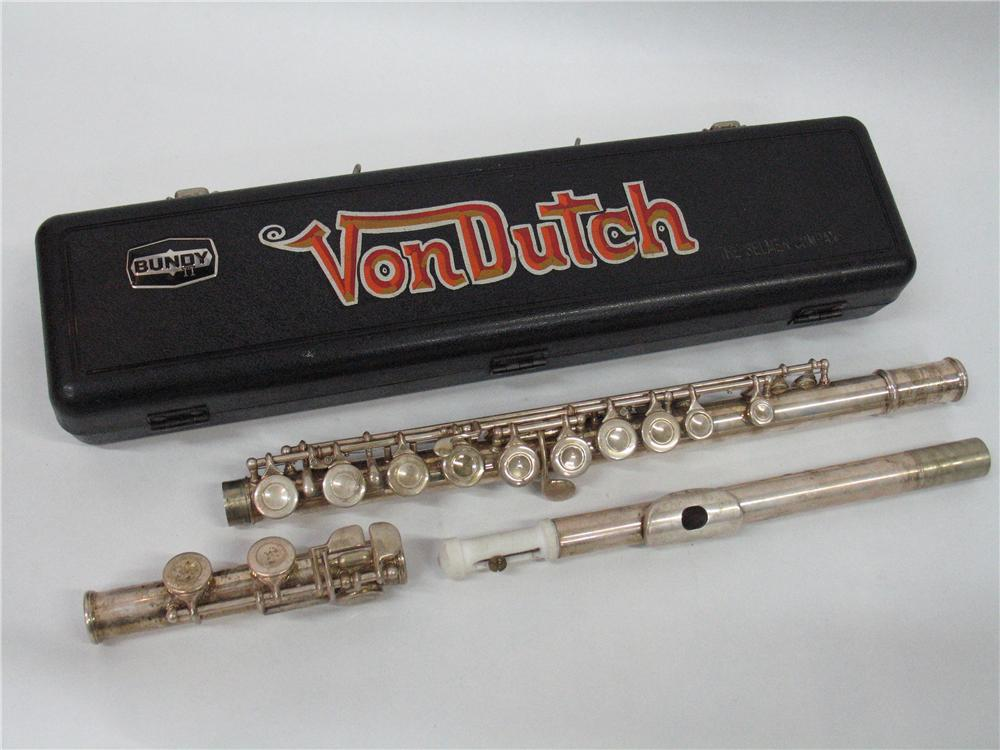Von Dutch Personal Flute, with Original Painted Case, 1985. - Front 3/4 - 46315