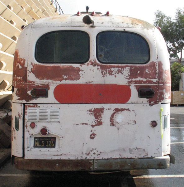 Von Dutch GMC Bus-Home/Workshop Von Dutch converted a GMC bus into a home and workshop. FRIDAY AUCTION. - Rear 3/4 - 46391