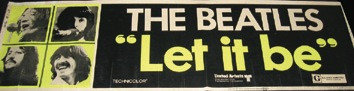 Let It Be large format USA cinema poster, 1970. - Front 3/4 - 46618