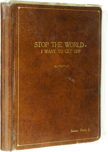 Sammy Davis Jr. Annotated Stop the World Scripts, 1978. - Front 3/4 - 46736