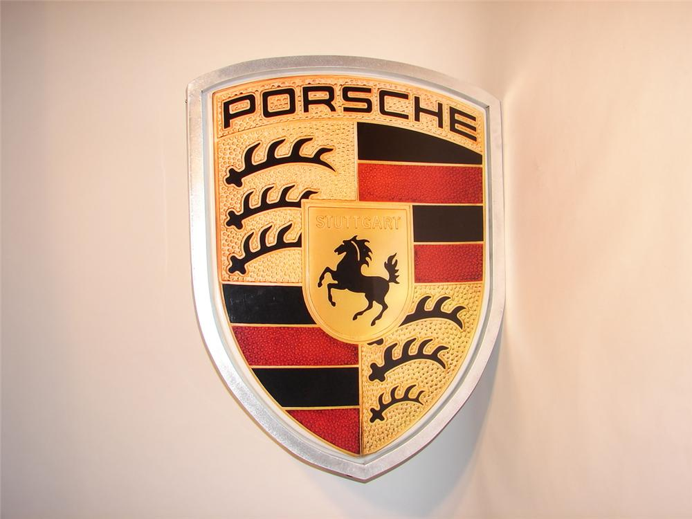 Magnificent circa 1980s Porsche Automobiles light-up dealership sign. - Front 3/4 - 46745