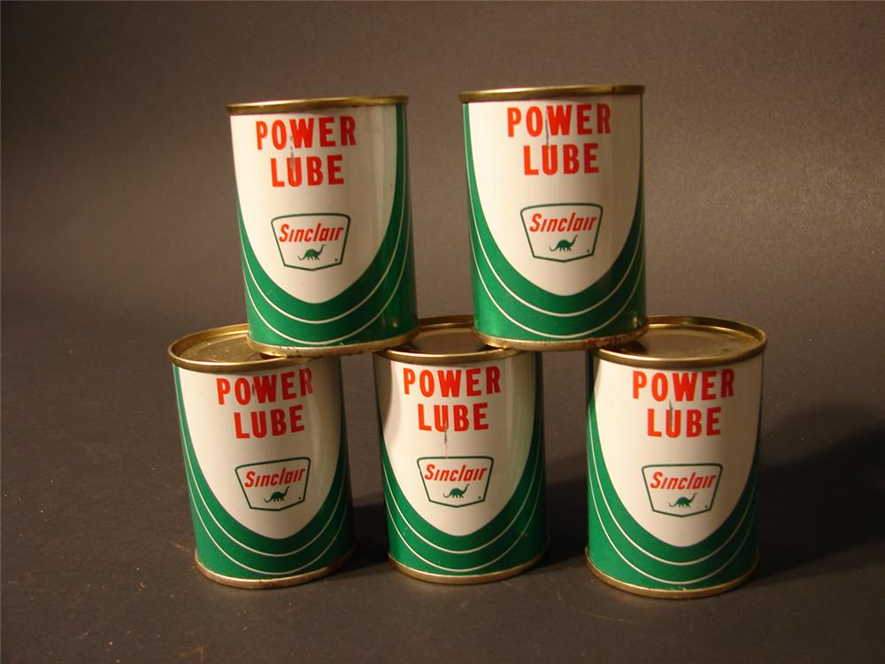 Lot of five four ounce N.O.S. Sinclair Power Lube tins. - Front 3/4 - 46765