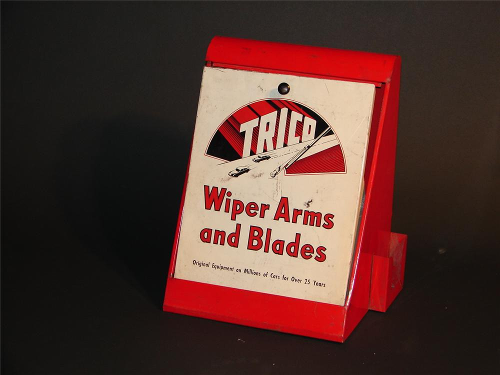 1950s Trico Wiper Arms and Blades counter-top display cabinet. - Front 3/4 - 46847