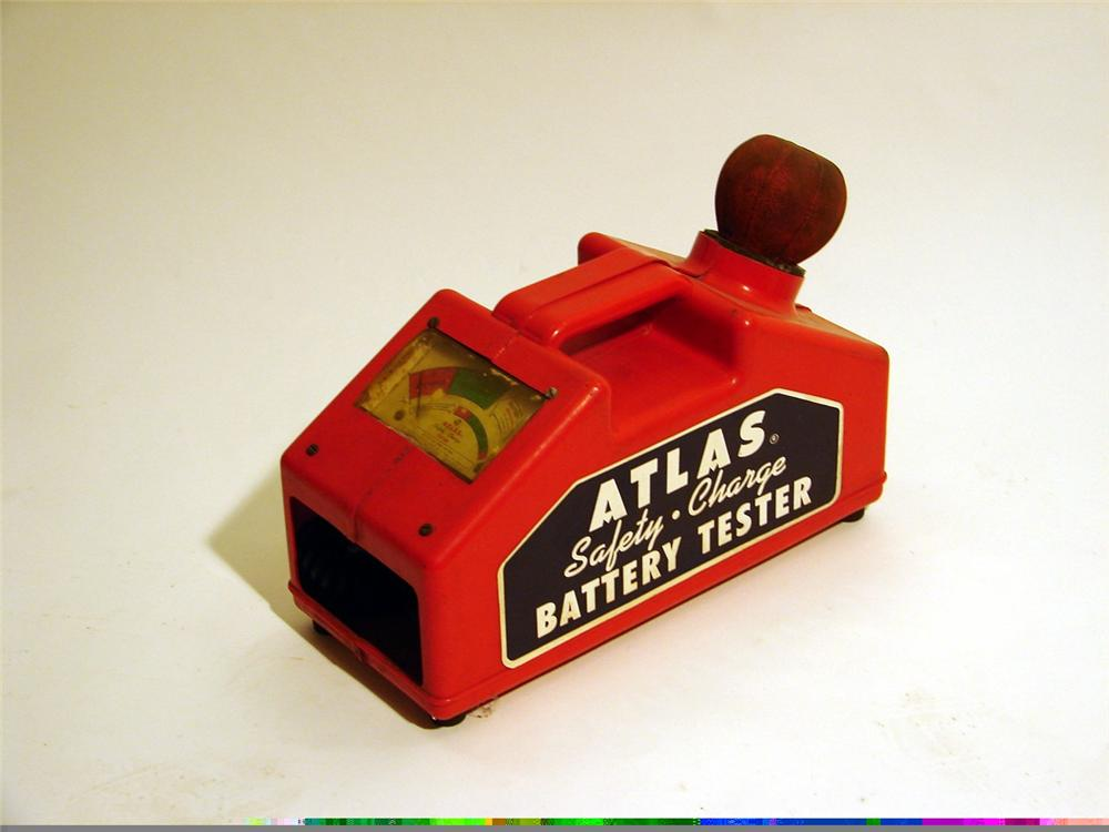 1940s Atlas Safety-Charge Battery Tester. - Front 3/4 - 46869