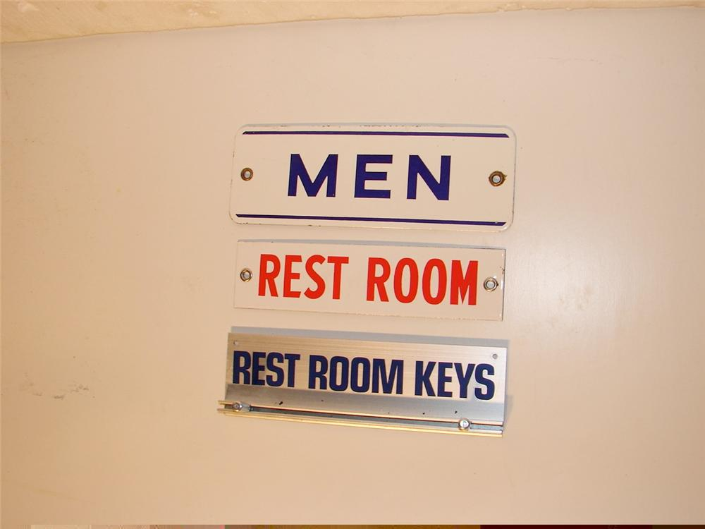 Three misc. station restroom signs. - Front 3/4 - 46875