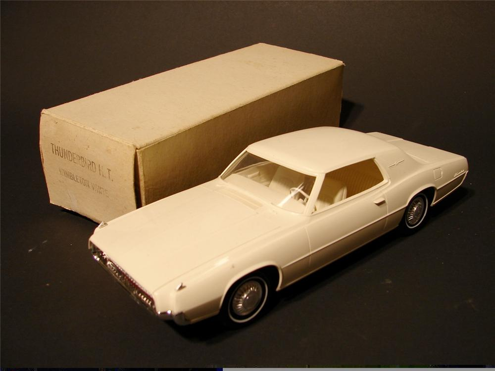 N.O.S. 1967 white Thunderbird H/T dealer promotional still in the original box. - Front 3/4 - 46893