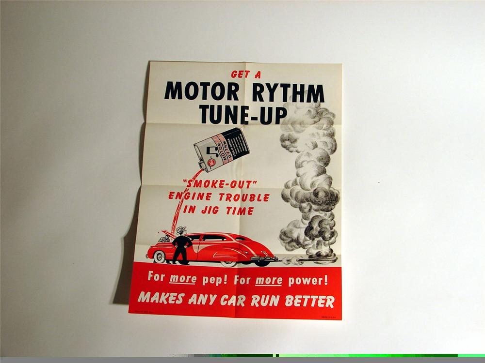 N.O.S. 1940s Whiz Motor Rhythm Tune-Up station poster. - Front 3/4 - 46907