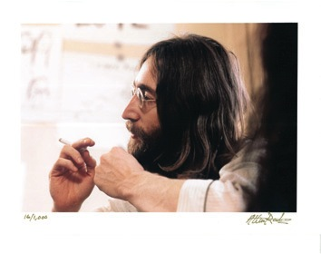 John Lennon and Yoko Ono 1969 Montreal Bed-In Color Photos. - Front 3/4 - 47016