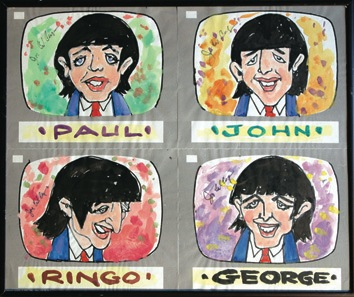 The Beatles Cartoon, pre-production artwork, US, 1964. - Front 3/4 - 47030