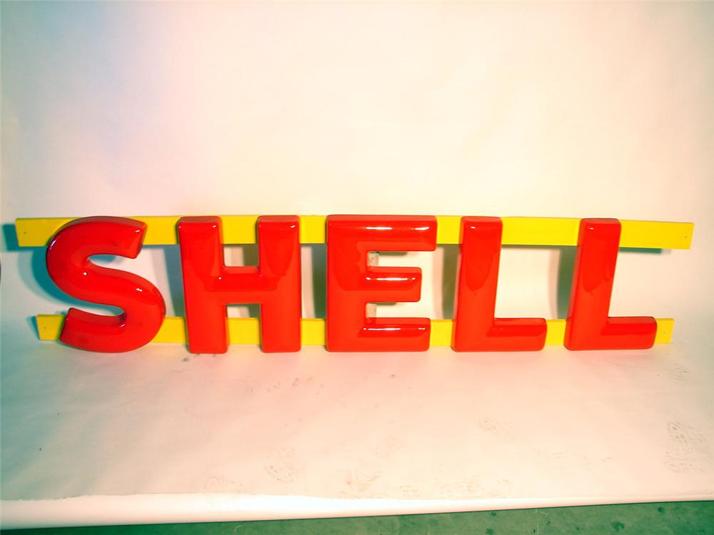 N.O.S. set of 1950s-60s Shell Gasoline Station three-dimensional letters. - Front 3/4 - 47074