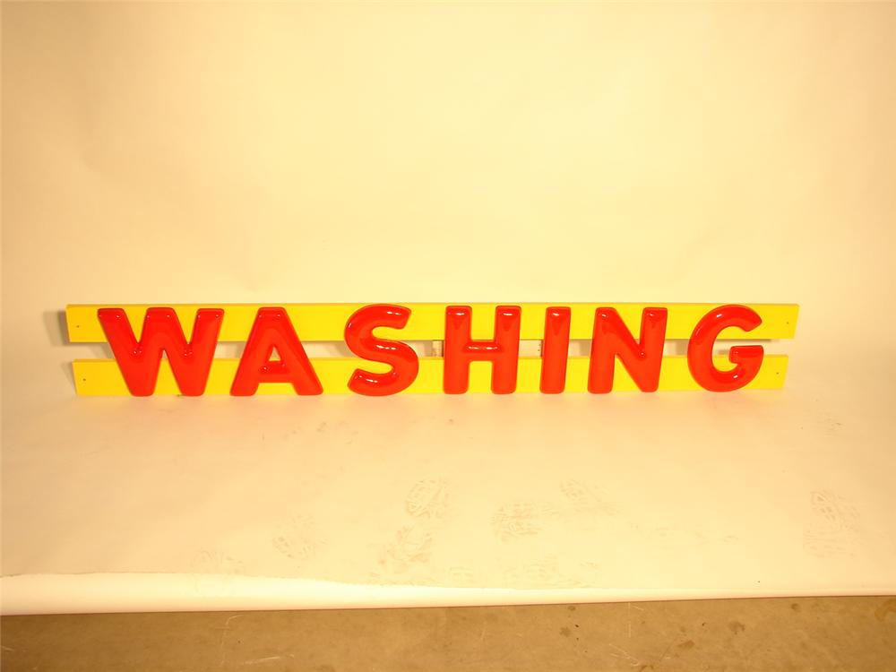 "N.O.S. set of 1950s-60s Shell Gasoline Station ""Washing"" three-dimensional letters. - Front 3/4 - 47077"