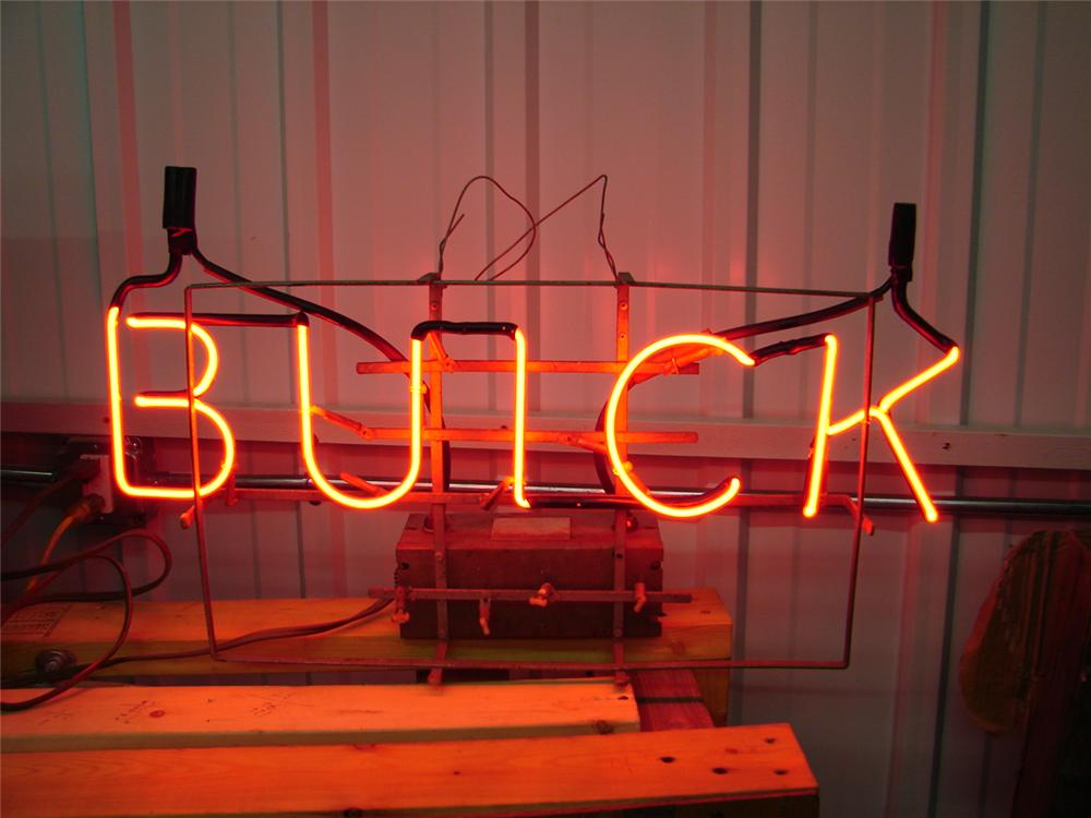 Vintage 1950s Buick dealership window neon sign. - Front 3/4 - 47091