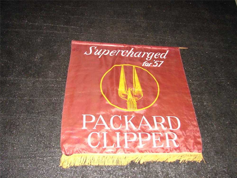 Fabulous 1957 Packard Clipper dealership showroom banner. - Front 3/4 - 47124