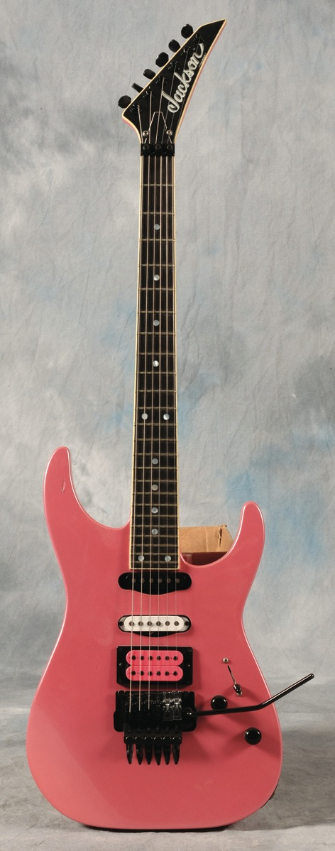 Stevie Vai - 1984 Jackson Soloist guitar. Photographic documentation with guitar. - Front 3/4 - 47844