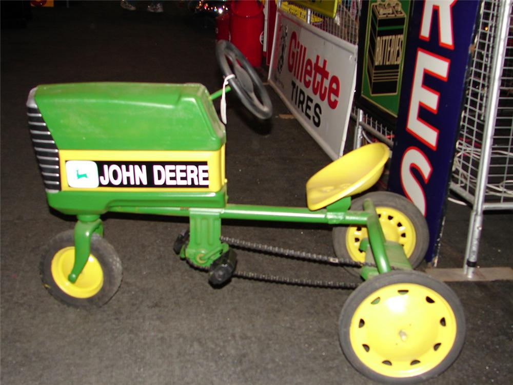 Restored Vintage John Deere pedal tractor completely redone. - Front 3/4 - 47984