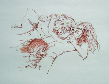 John Lennon original signed and numbered limited edition Bag One erotic lithograph, 1970. - Front 3/4 - 48046
