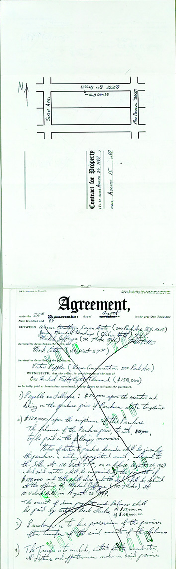 Jimi Hendrix Management Document Signed by Hendrix and Mike Jeffrey, 1969. - Front 3/4 - 48051