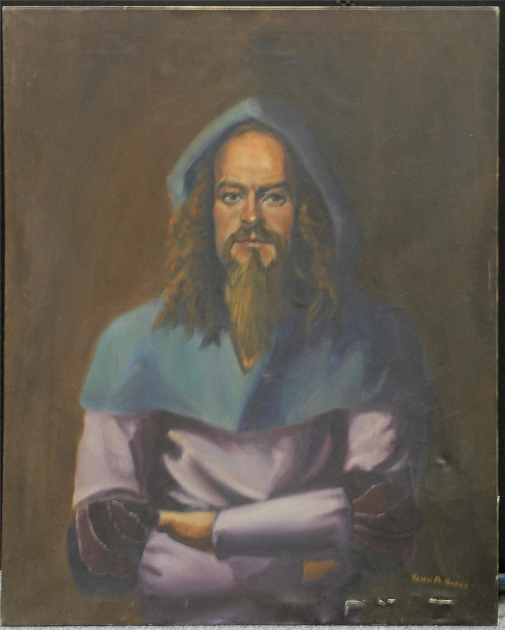 Original oil painting of Ian Anderson of Jethro Tull by American artist Keith Rocco. - Front 3/4 - 48101