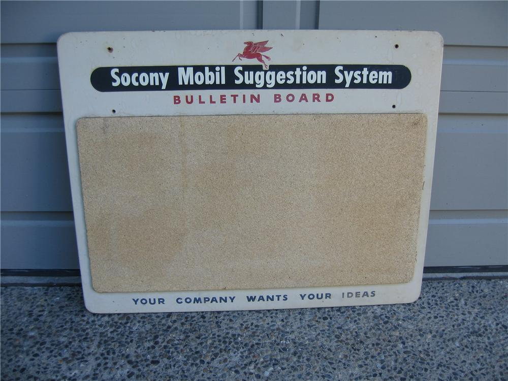 1940s Mobil Oil Suggestion Board sign. - Front 3/4 - 48232